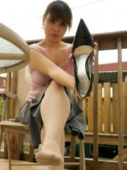 Dal'langs Worn Smelly Nylons and Patent Pumps