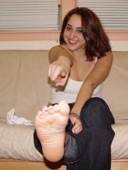 Veronica Worn Sneakers and Sweaty Hanes Socks