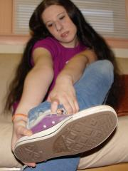 Liz Purple Converse Sock Show